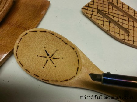 DIY Etched Wooden Spoons www.mindfulmomma.com