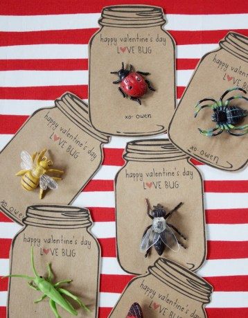 Love Bug Valentines via dandee-designs.com