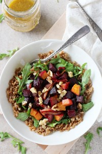 Farro Meal Bowls with Roasted Beets by Cookie Monster Cooking