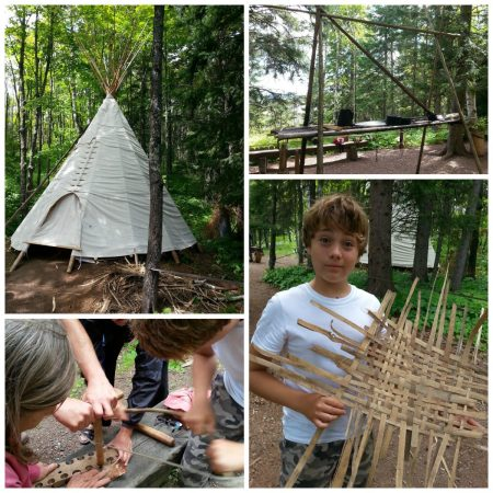Ojibwe camp at Wolf Ridge ELC