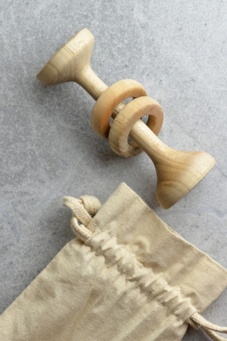 Wooden Rattle & Teether and Other Eco Friendly Baby Gifts
