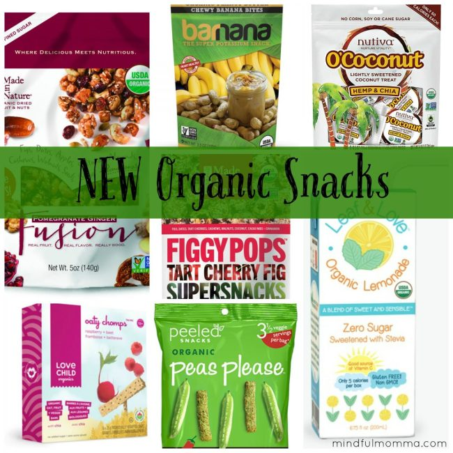 New Organic Snacks via mindfulmomma.com
