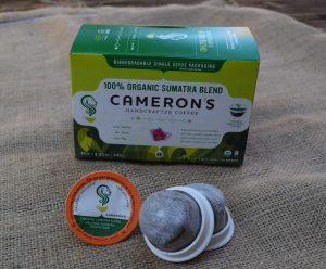 Cameron's organic coffee pods