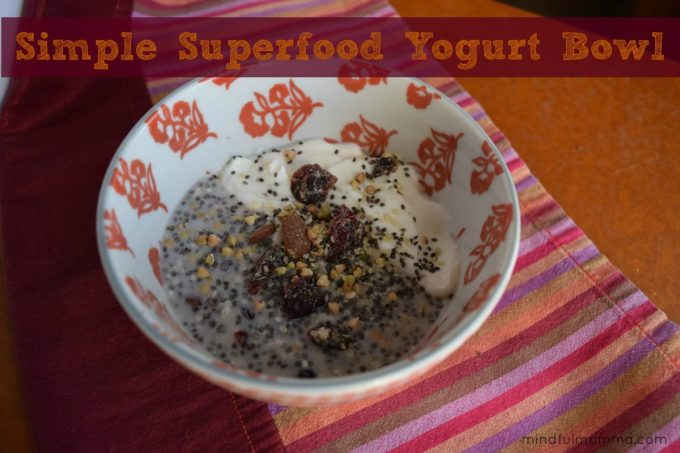 Simple Superfood Yogurt Bowl