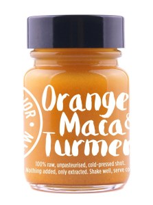 Orange-Maca-Tumeric-Shot and Other Healthy Food Trends