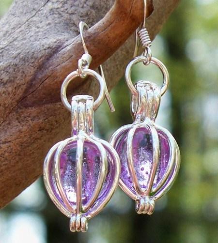 Recycled Glass & Silver Drop Earrings // www.mindfulmomma.com