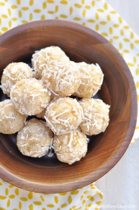 Aloha Energy Protein Balls by Get Creative Juice