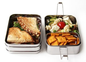 EcoLunchBox Three-in-One and other reusable lunch containers
