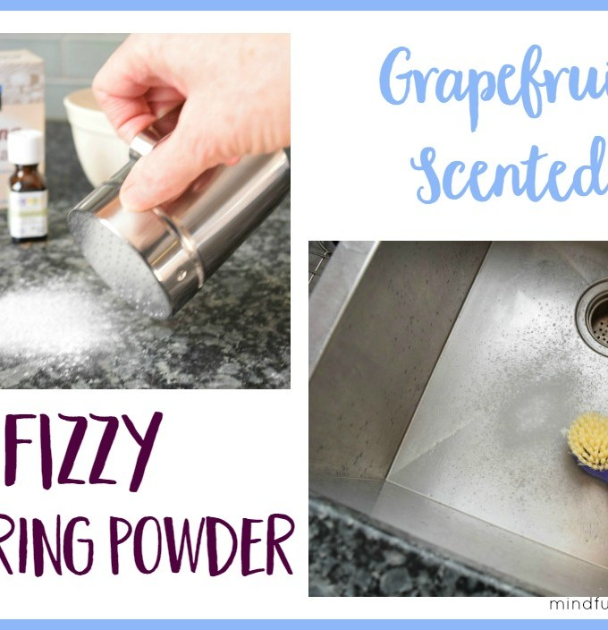 Grapefruit Scented Fizzy Scouring Powder | Mindful Momma