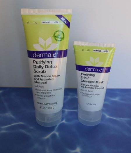 Derma e charcoal scrub and mask and other activated charcoal beauty products