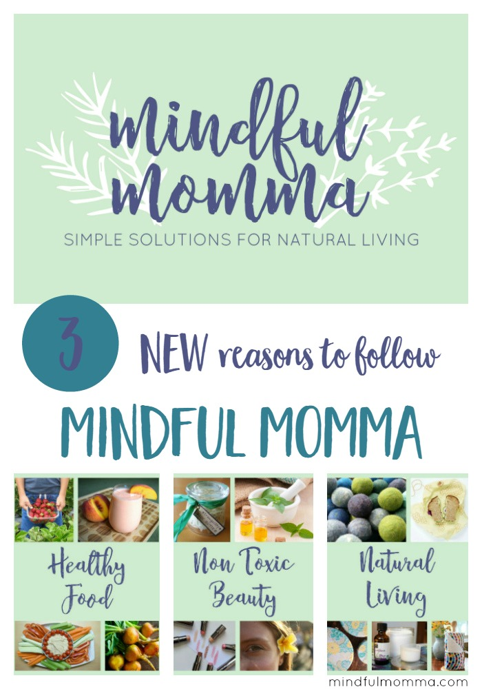 Mindful Momma got a makeover! Three new reasons to follow Mindful Momma - a blog about creating a healthy, natural lifestyle that works for you! | healthy food | non toxic beauty | natural living | giveaway via @MindfulMomma