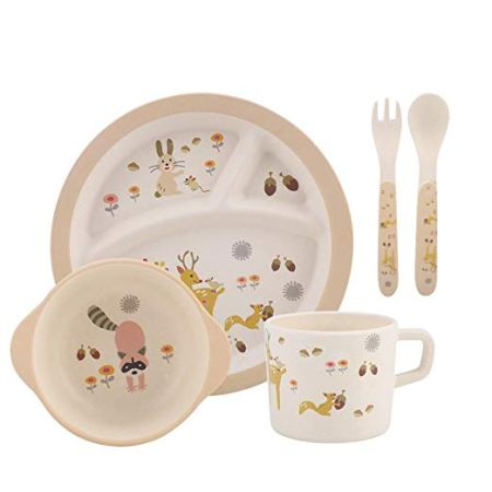 Kids bamboo dinnerware set