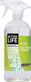 Better Life All Purpose Cleaning Spray and other non-toxic cleaning sprays