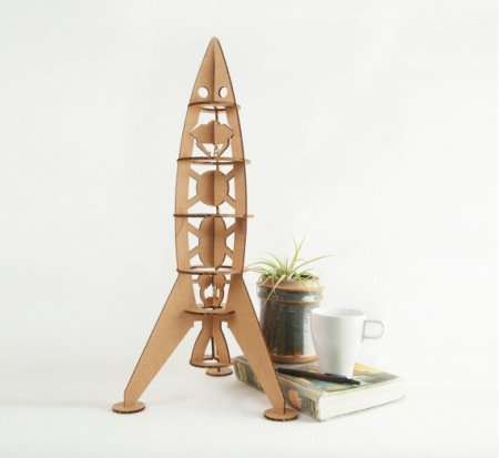 Cardboard rocket ship and other eco friendly gifts