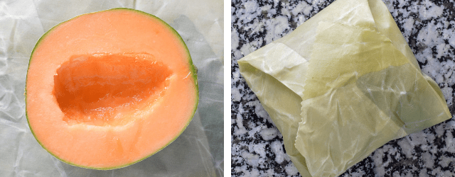 DIY Beeswax Wraps - cantalope