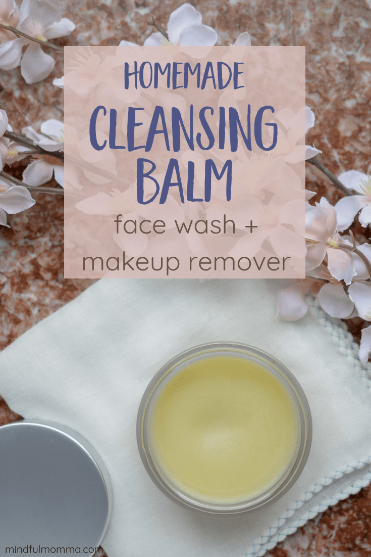 Homemade Cleansing Balm - You'll love this affordable DIY cleansing balm + makeup remover because it is similar to Beautycounter cleansing balm but affordable and made with easy to find natural ingredients like shea butter, cocoa butter and essential oils. | #beauty #skincare #facialcare #Beautycounter  via @MindfulMomma
