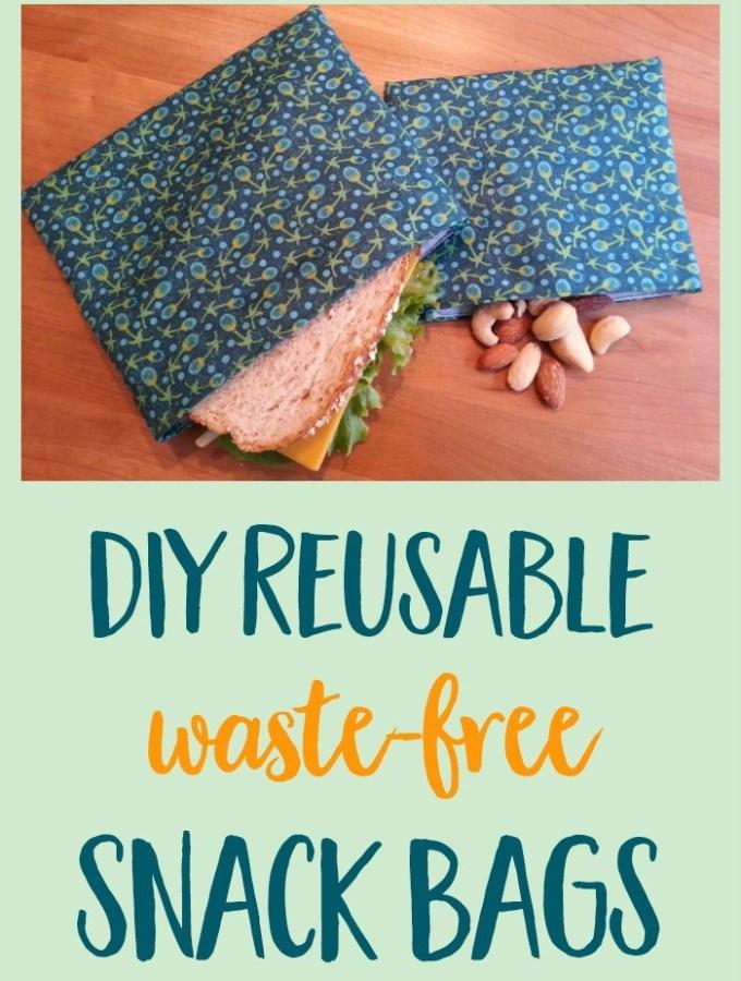 DIY Reusable Snack & Sandwich Bags