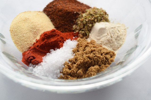 Homemade taco seasoning spices in a bowl