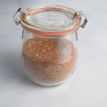 homemade taco seasoning in glass Weck jar