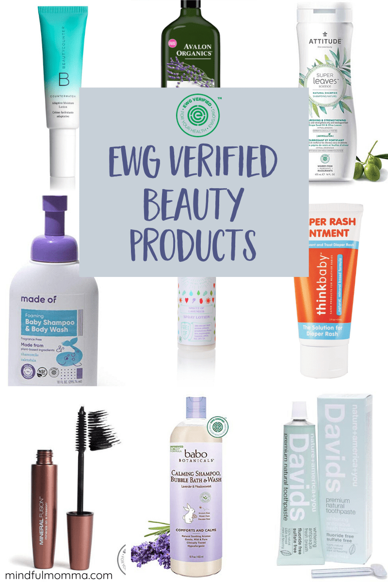 EWG Verified certification assures products are completely transparent about ingredients and free from harmful chemicals. Learn which personal care and beauty products and brands are EWG Verified - including baby products, hair care, bath and body, makeup and more. | #EWG #nontoxic #beauty #bath #baby #hair #skincare via @MindfulMomma