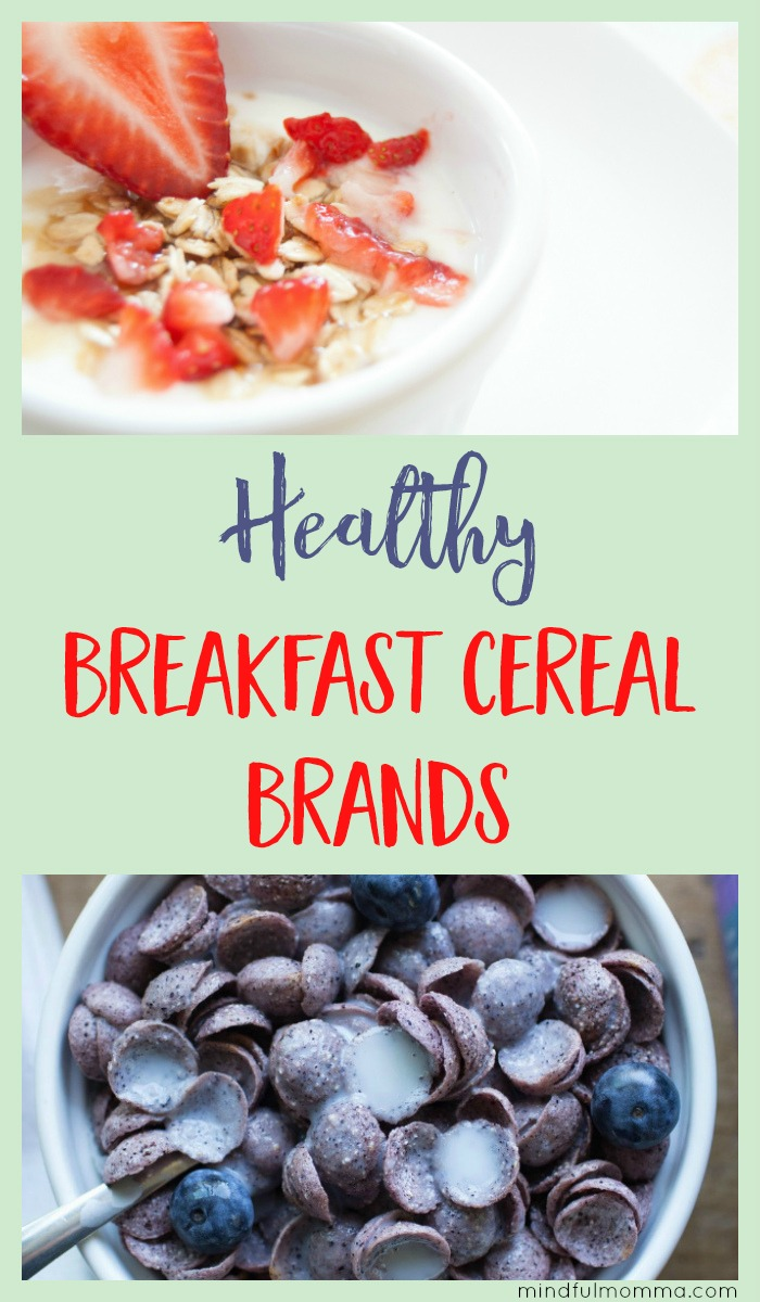 Both kids and adults will love these healthy breakfast cereal brands that are organic, GMO-free, low sugar and higher in nutrition than conventional cereal. | #breakfast #cereal #organic #nonGMO #kidfriendly #healthyfood via @MindfulMomma
