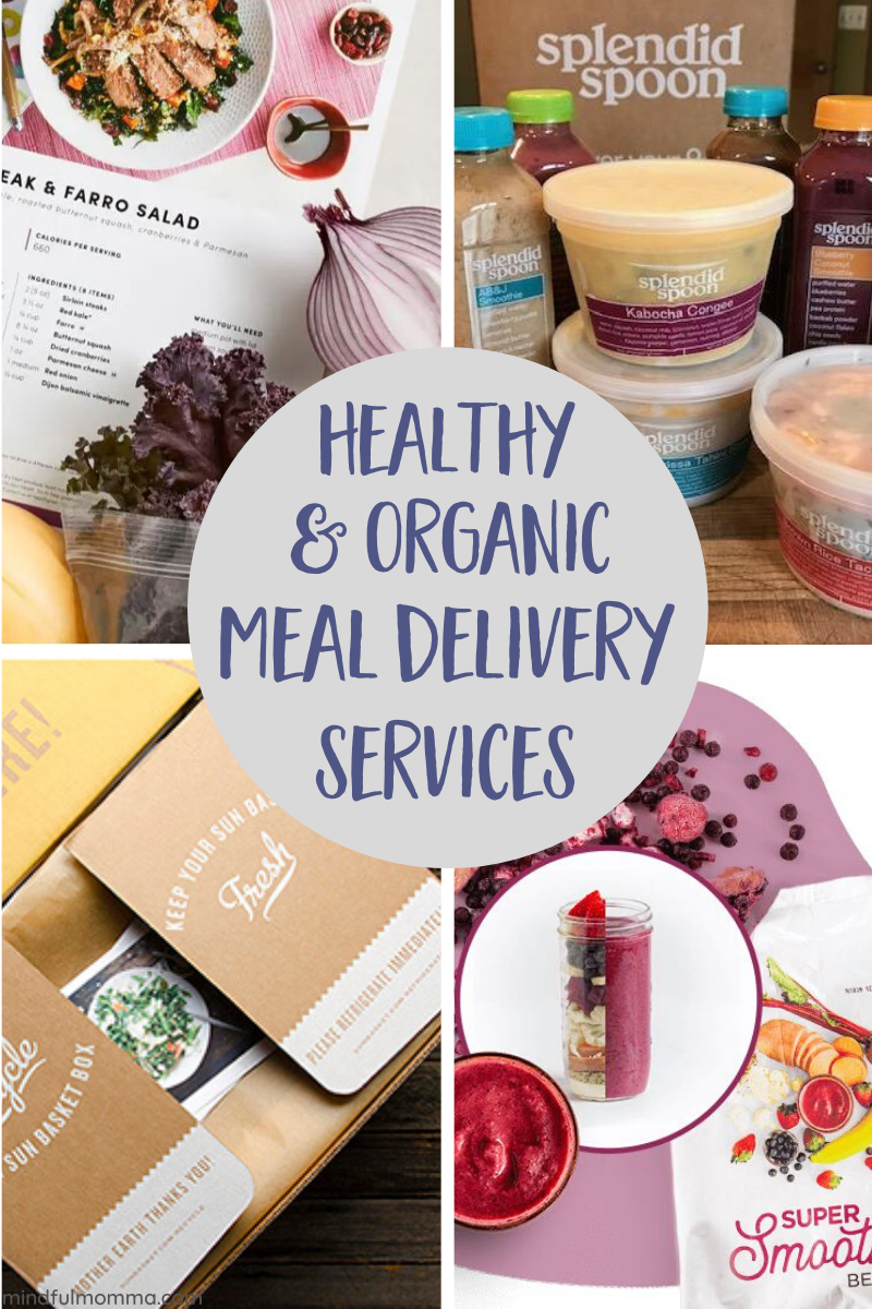 Find the best healthy and organic meal delivery services to save you time and sanity! This review covers the costs, benefits and pros & cons of the major meal kit delivery companies including Sunbasket, Green Chef, Splendid Spoon and more. | #mealdelivery #organicfood #healthymeals via @MindfulMomma
