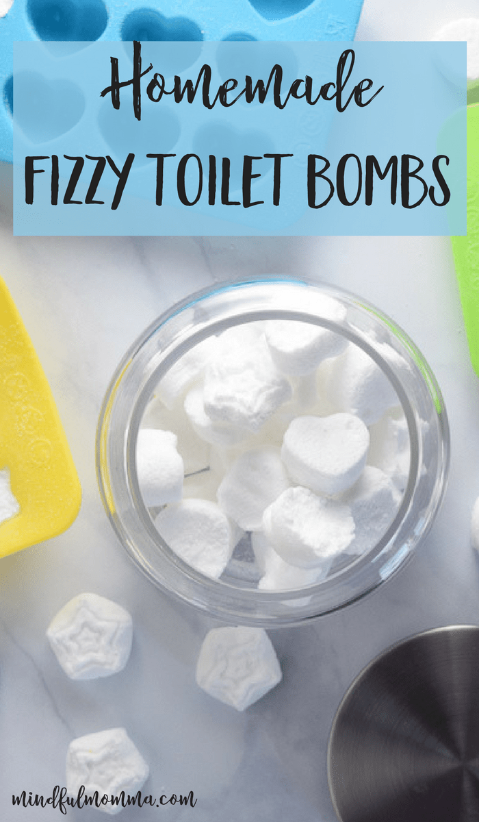 Learn how homemade fizzy toilet bombs can help keep your toilet fresh and deodorized using only 4 low-cost, natural ingredients. | green cleaning products | natural, non-toxic products | #cleaning #ecofriendly #nontoxic via @MindfulMomma