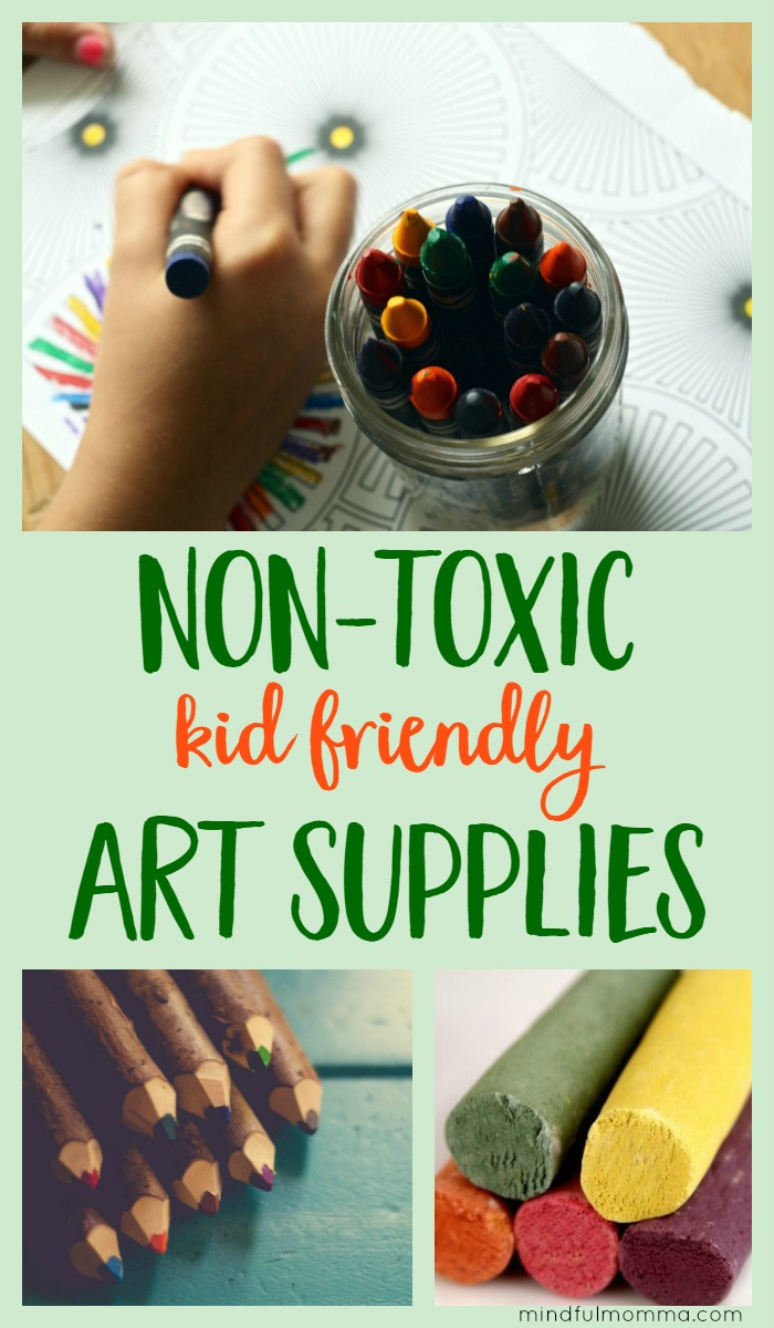 Resources for buying safe, non-toxic art supplies so your kids can get messy and creative without worry over exposure to toxic chemicals. | safe and natural products | kid friendly gifts | arts & crafts via @MindfulMomma