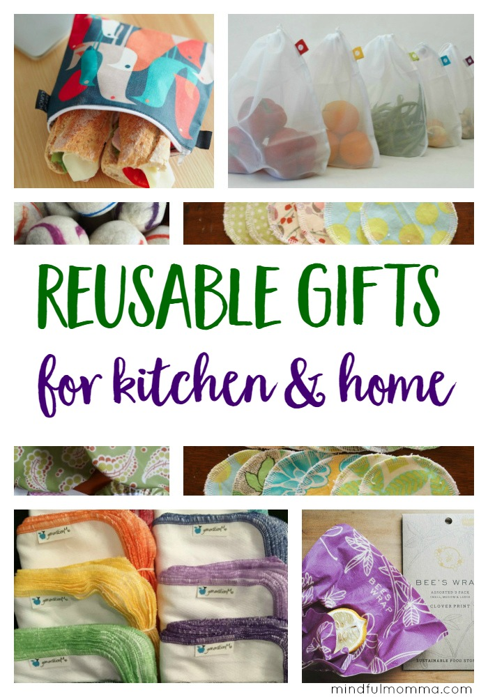 Practical but stylish, reusable gifts for the kitchen & home that keep on giving throughout the year by replacing wasteful, disposable products. | green living | zero waste