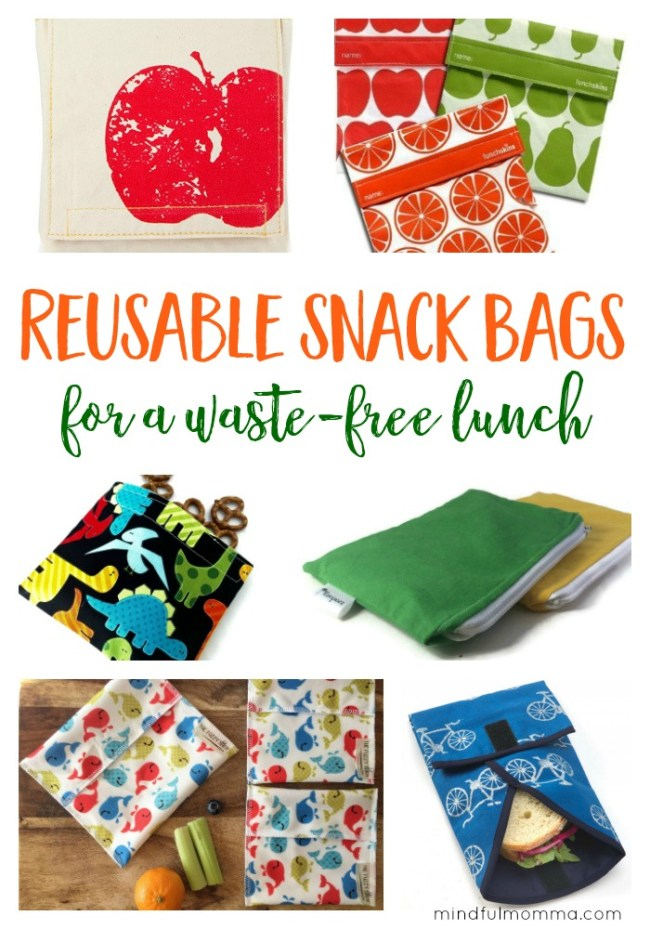 Reusable Snack Bags for a Waste Free Lunch