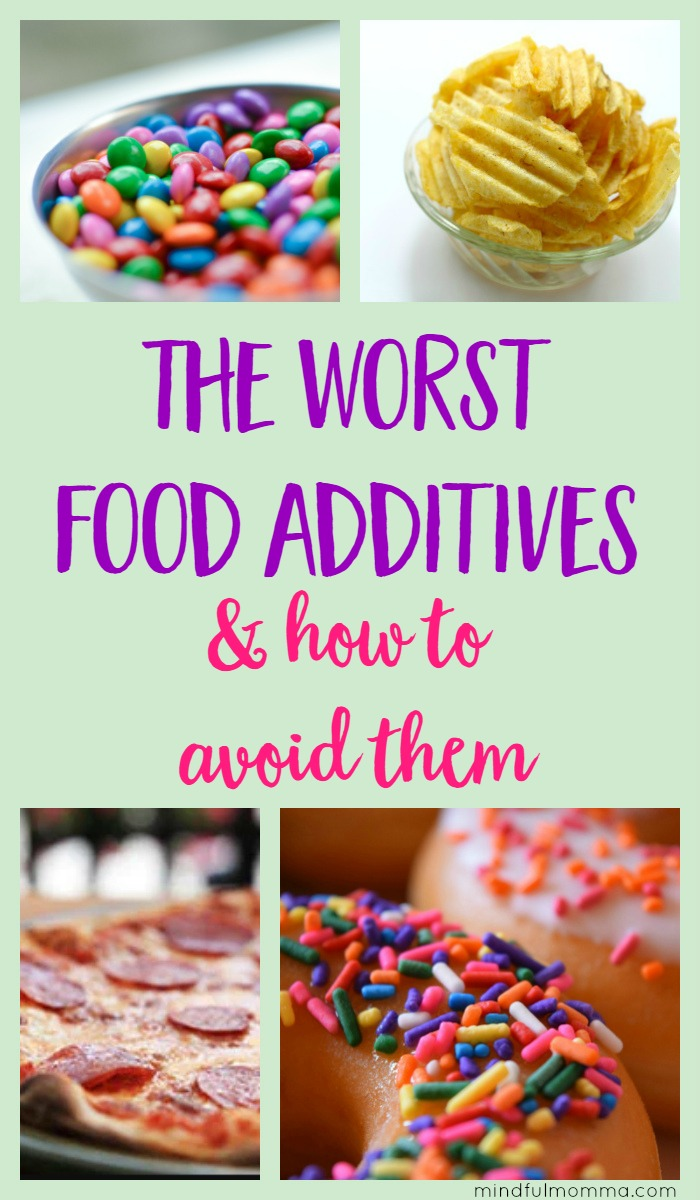 The worst food additives, according to the EWG's Dirty Dozen list. What types of foods you'll find them in, how to avoid them and some better alternatives. | healthy food | real food | unprocessed   via @MindfulMomma