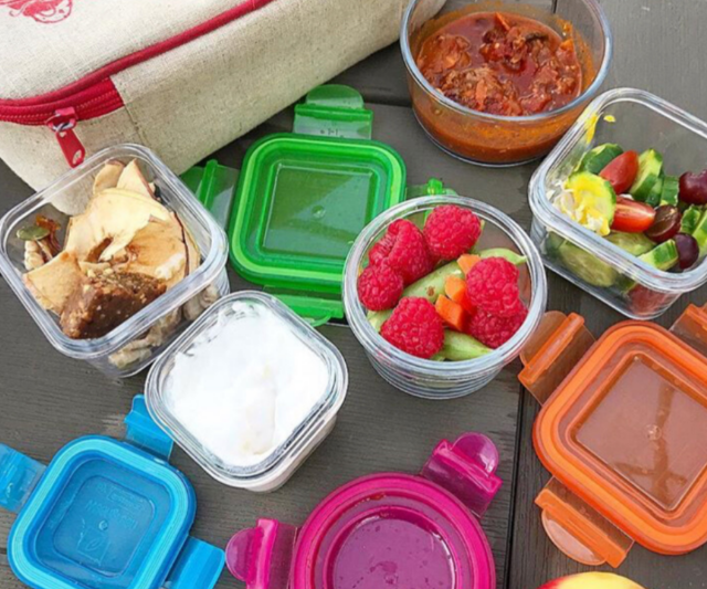 Wean Green Lunch Cube reusable lunch containers