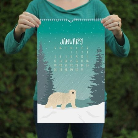 Wildlife Wall Calendar Etsy