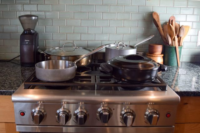 cookware on stove