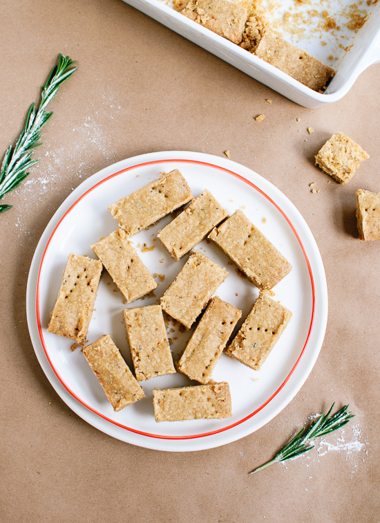 Lemon Rosemary Shortbread from Cookie + Kate