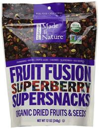 made in nature fruit fusion - organic snacks
