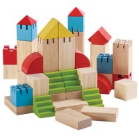 Colorful Wooden Building Blocks – 46pc Set