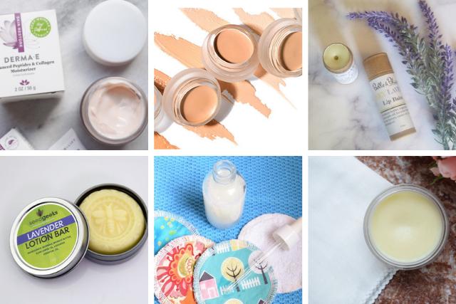 zero waste bathroom essentials - skin care & cosmetics