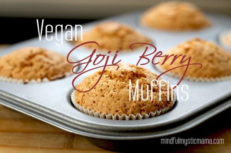 vegan goji berry muffins