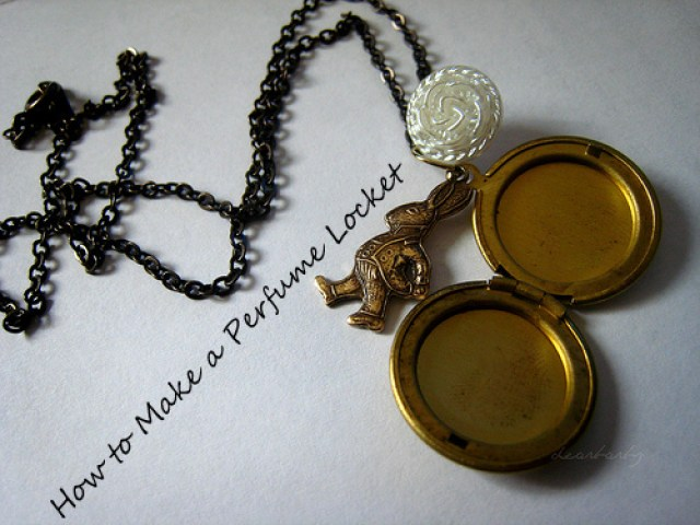 perfume, locket, perfume locket, how to make a perfume locket
