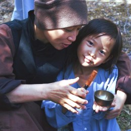 nun and child