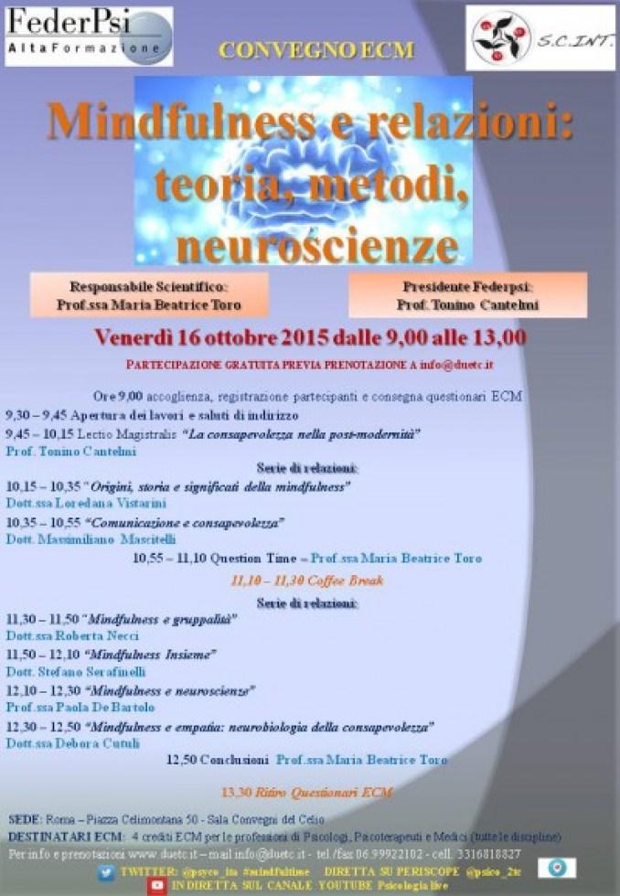 locandina Corso ECM Mindfulness interpersonale