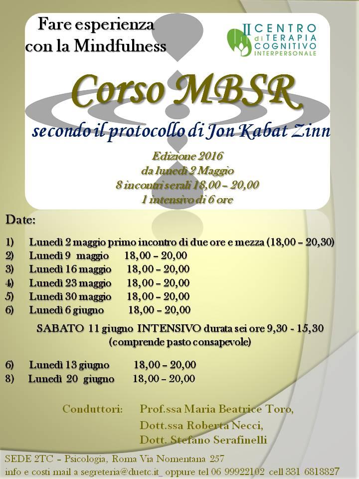 MBSR 2016 Maggio
