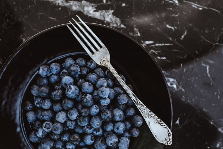 blueberry plate