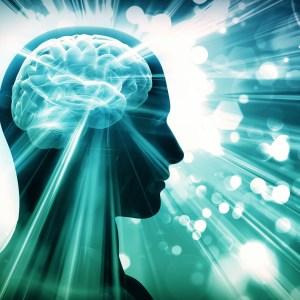 brain, lights, concept