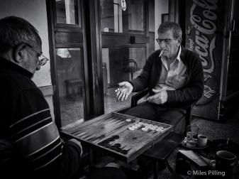 Greek Cypriots playing Backgammon