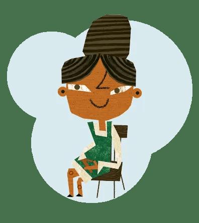 Teacher Sitting In Chair