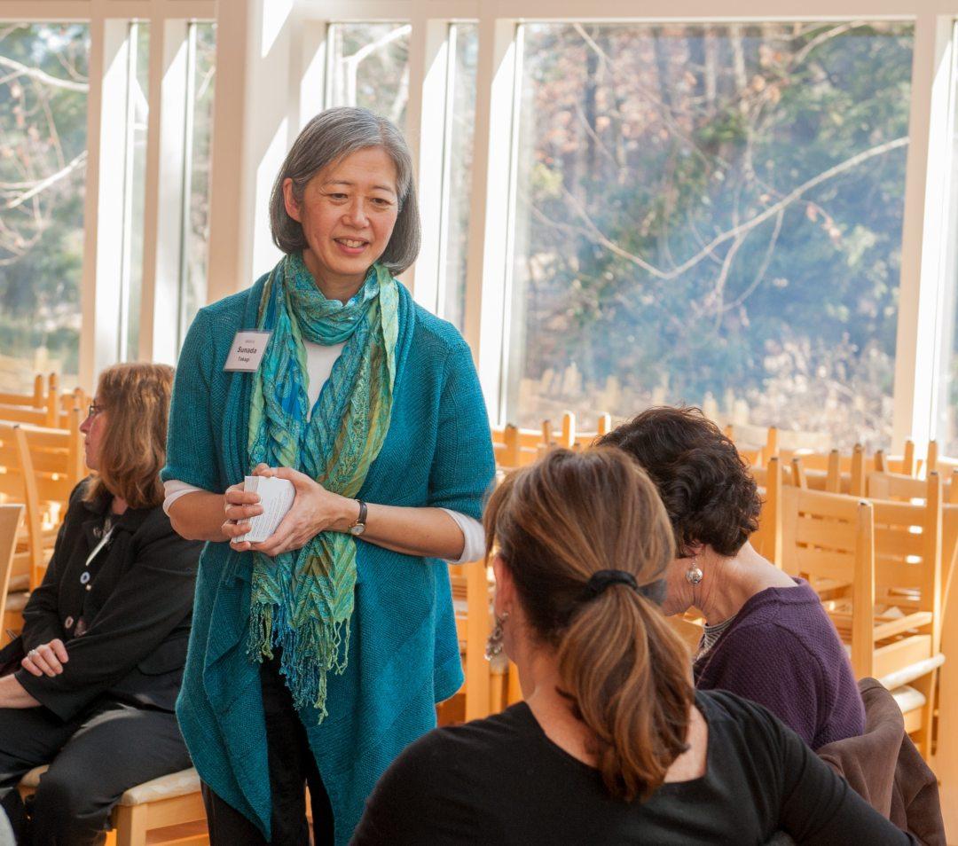 Sunada Takagi leads a mindfulness workshop