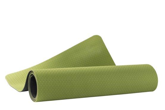 Ecoyogi TPE Yogamat Groen/zwart 6 mm
