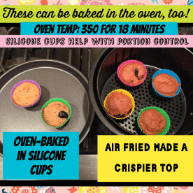 Air Fried made a crispier top